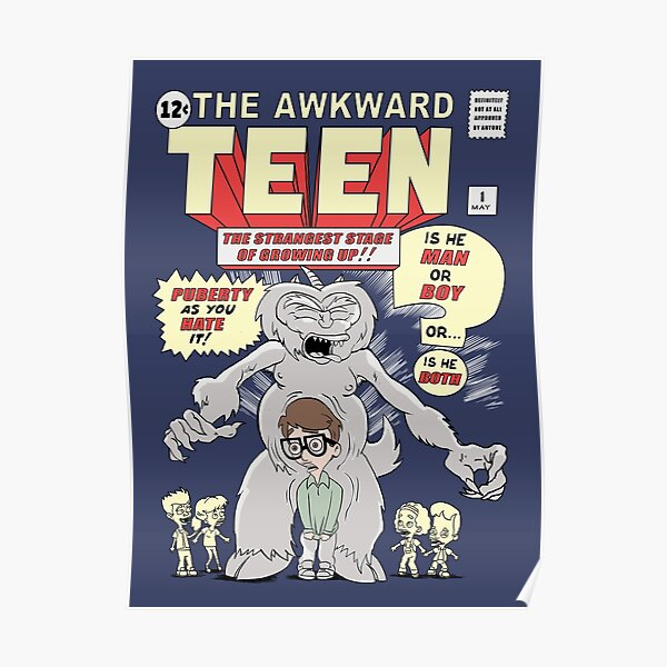 The Big Mouth Awkward Teen Poster