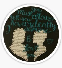 Ardently Pride and Prejudice Embroidery Sticker