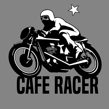 Cafe Racer Vintage Retro Motorcycle by MikePrittie