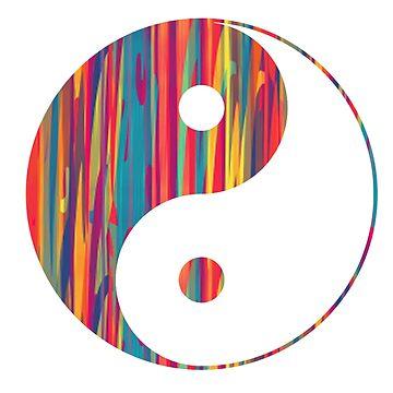 Goteo colorido Yin Yang de adjsr