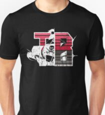 TAMPA BAY - TB - DISTRESSED DESIGN WITH TB FOR TAMPA BAY AND A PIRATE SHIP Unisex T-Shirt