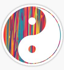Colorful Drip Yin Yang Sticker