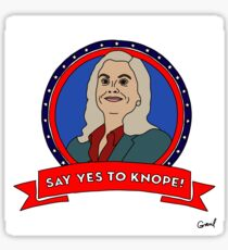 Say Yes to Knope Sticker Sticker
