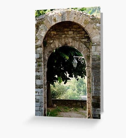 Entry or exit? Greeting Card