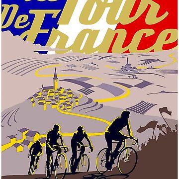 Le Tour de France : Vintage Bike Racing Advertising Print by posterbobs