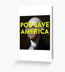 Pod Save America Logo Greeting Card