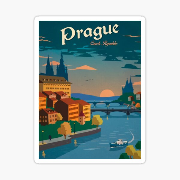 Czech Prague Sticker