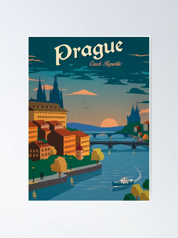 Alternate view of Czech Prague Poster