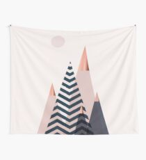 Scandinavian Mountains Wall Tapestry