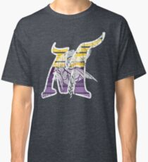 MINNESOTA - M - DISTRESSED DESIGN WITH M FOR MINNESOTA AND A VIKING Classic T-Shirt