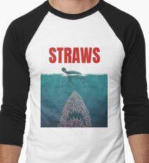 Straws  Men's Baseball ¾ T-Shirt
