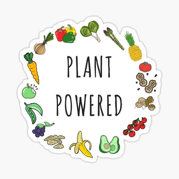 Plant Powered Vegan Vegetarian Activism Sticker
