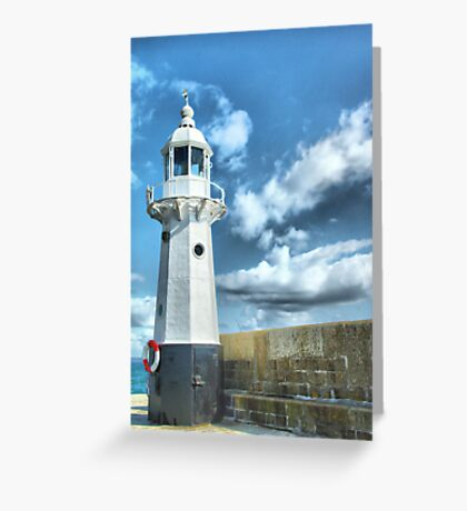 Lighthouse at Mevagissey Greeting Card