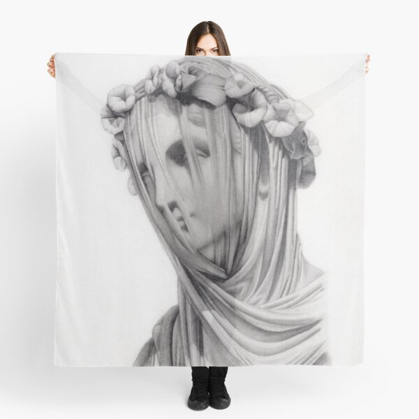 Veiled Marble Statue Scarf