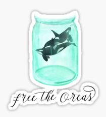 Free The Orcas - Empty the Tanks - End Captivity For Killer Whales Sticker