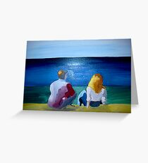 """""""En Papudo"""" (Daidalos and Candy in love...) Greeting Card"""