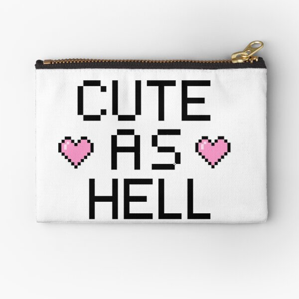 Pixel - Cute as Hell Zipper Pouch