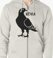 Kevin the Pigeon Zipped Hoodie
