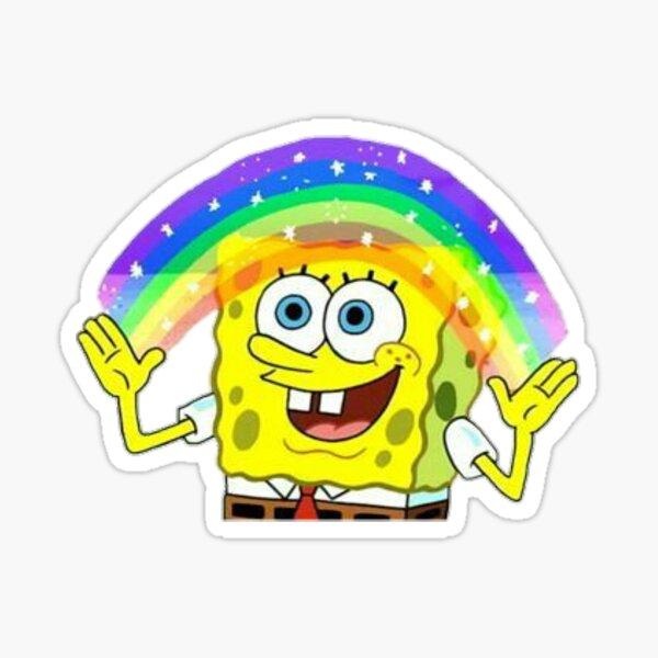 spongebob imagination meme  Sticker