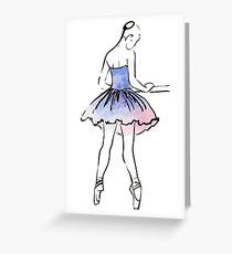 ballerina figure, watercolor illustration Greeting Card