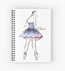 ballerina figure, watercolor illustration Spiral Notebook