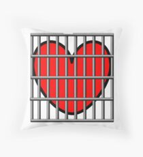 My Heart is in a Cage Throw Pillow