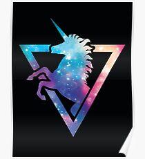 Galaxy Unicorn  Poster
