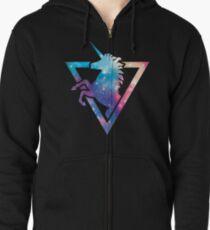 Galaxy Unicorn  Zipped Hoodie