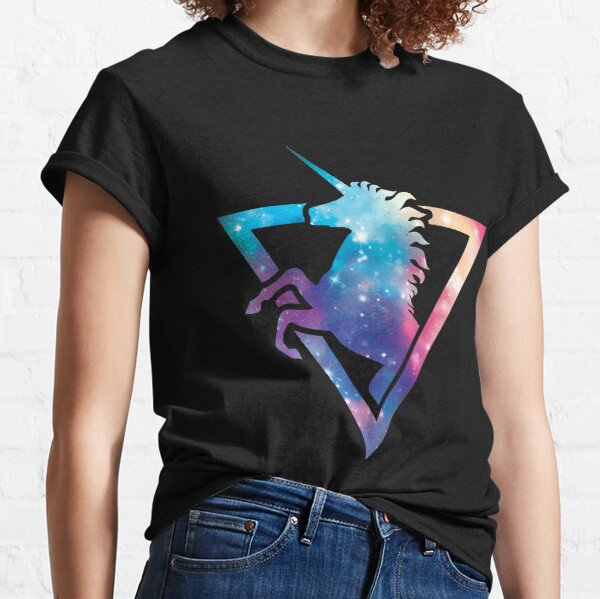 Galaxy Unicorn Camiseta clásica