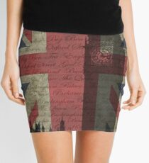 London-Typography Mini Skirt