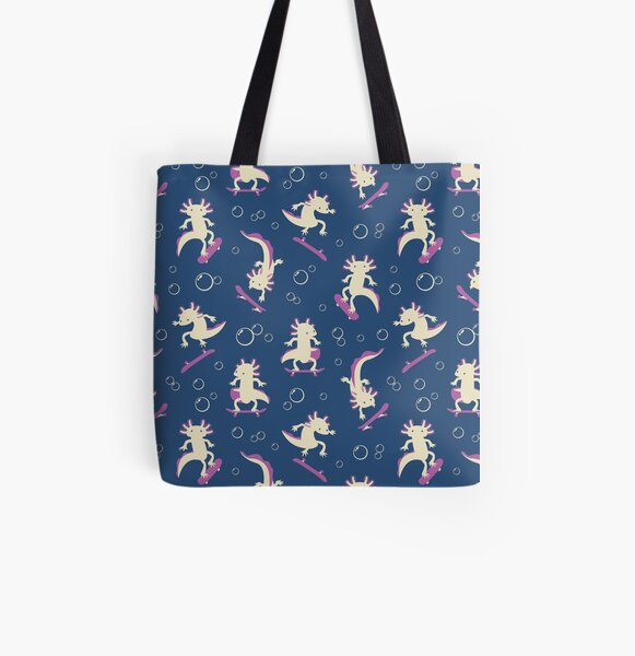 To the Maxolotl - Blue & Violet All Over Print Tote Bag