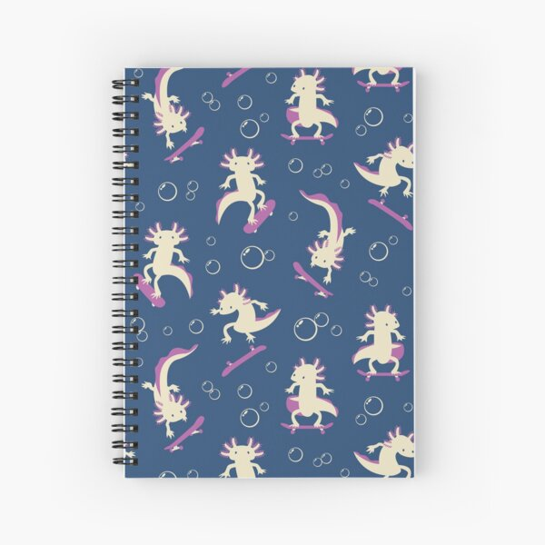 To the Maxolotl - Blue & Violet Spiral Notebook
