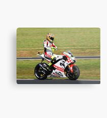 Valentino Rossi on his Yamaha (YZR-M1) Metal Print