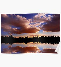 Morning at the Reservoir, New York City, USA Poster