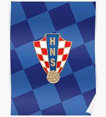 Croatia Jersy Dark Blue Logo Poster