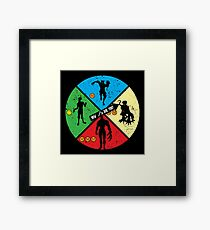 Zombie Wheel Framed Print