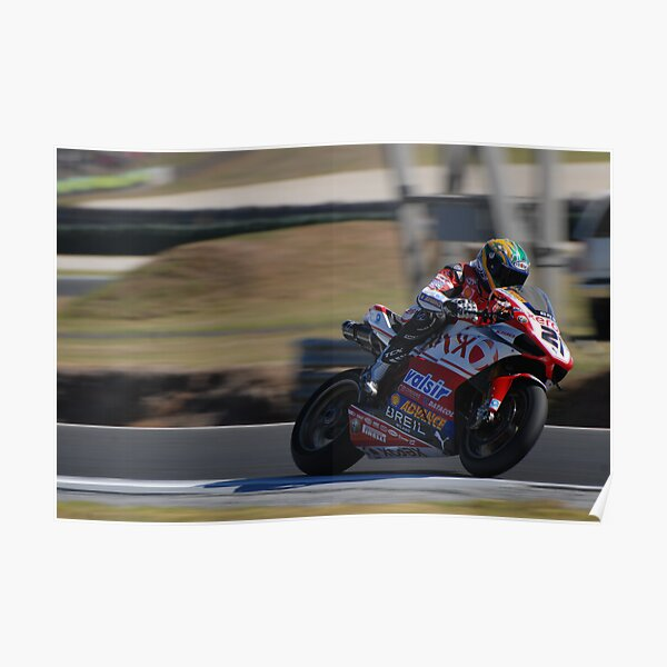 Troy Bayliss on his Ducati (1098) Poster