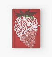 Cuaderno de tapa dura Campos de fresa por siempre