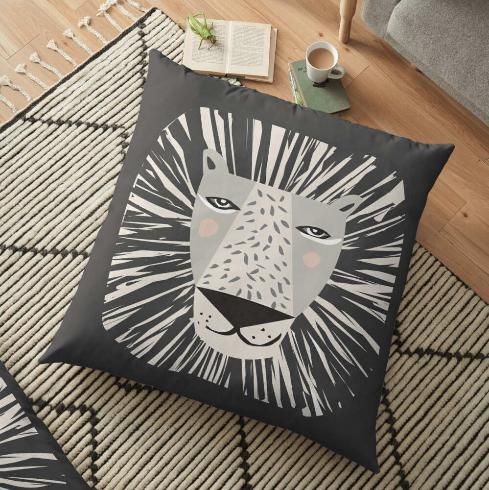Friendly Lion Floor Pillow