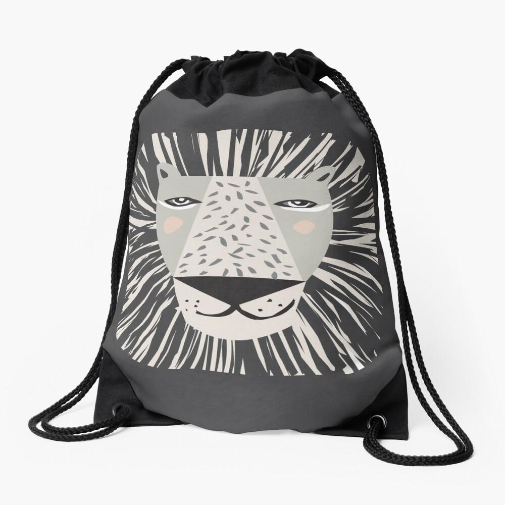 Friendly Lion Drawstring Bag