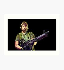 Chuck Norris Soldier Art Print