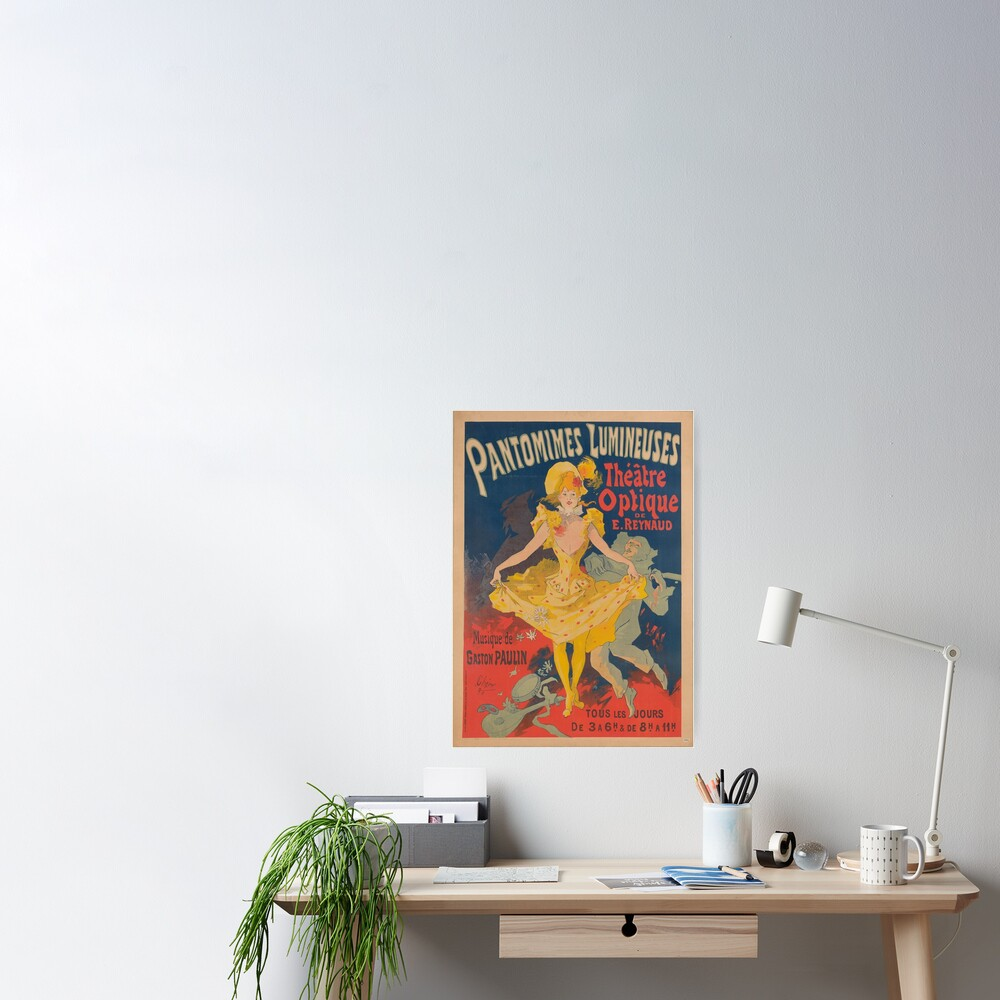 Pantomimes Lumineuses Vintage Poster Poster