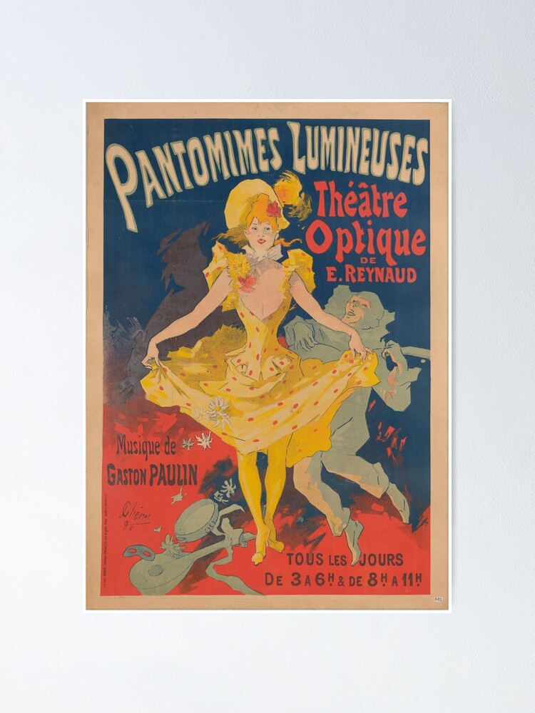 Alternate view of Pantomimes Lumineuses Vintage Poster Poster