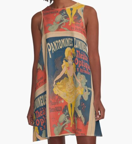 Pantomimes Lumineuses Vintage Poster A-Line Dress