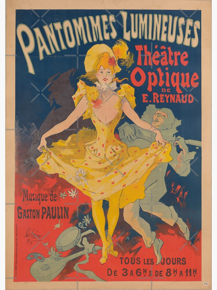 Pantomimes Lumineuses Vintage Poster by thespottydogg