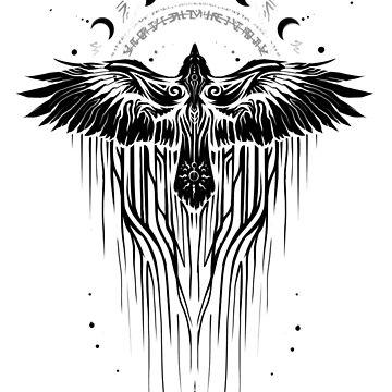 Tribal Raven by Xeanatavara