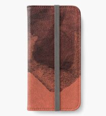 Modern red black abstract painting art design iPhone Wallet/Case/Skin