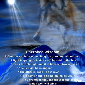 Cherokee Wisdom Card by saleire