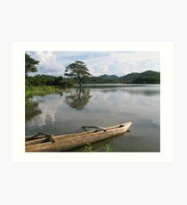 Nalanda Lake, Sri Lanka Art Print