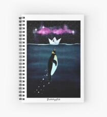 """""""Emperor Penguin"""" - from the heron of my paper boats Spiral Notebook"""
